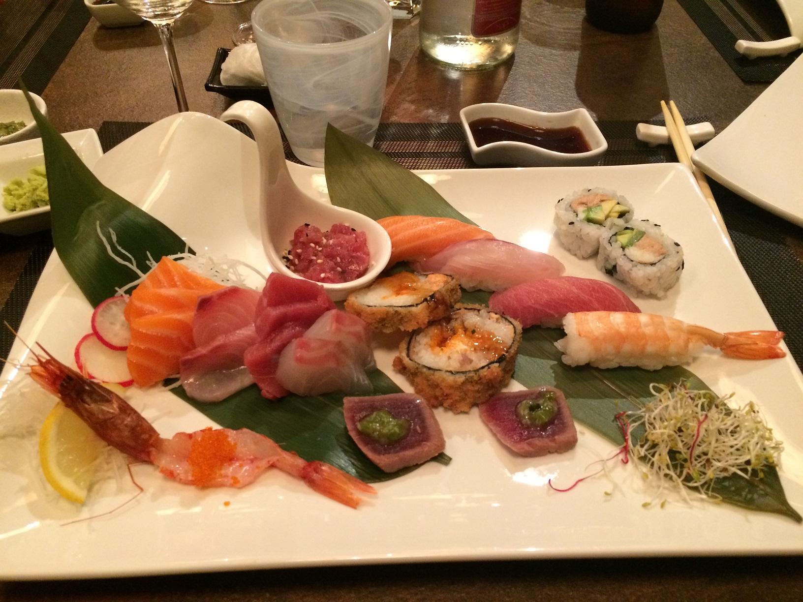 g-sushi sushi e sashimi misto da 18 pezzi