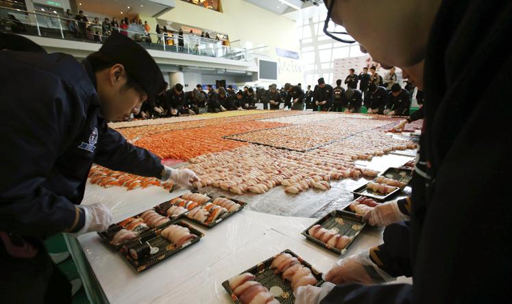 mosaico di sushi